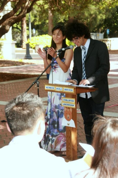 Presenting the award with UC Berkeley Senator Chris Franco