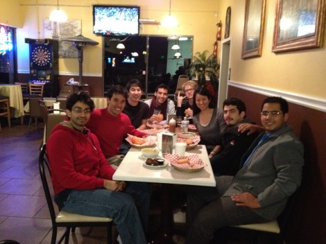 Dinner with two startup teams from Chile