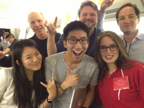 The 6 people of INIT: Chris Redlitz (Partner at Transmedia Capital), Brian Wong (CEO of Kiip), Peter Hinssen (Chairman of London Business School), Tom Serres (CEo of Rally.org), and Bettina Warburg-Johnson (Program Manager at Institute of the Future)
