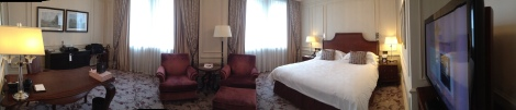 My hotel room in the Langham