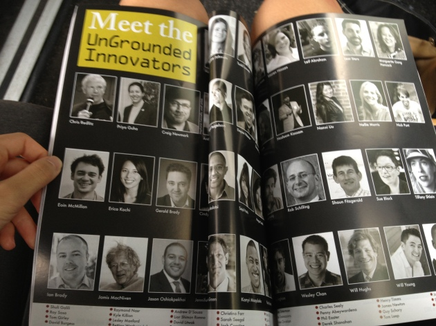 I'm named in the magazine they handed out at the conference!