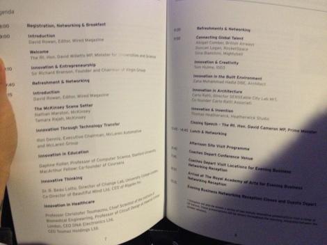 The conference agenda. Amazing speakers!