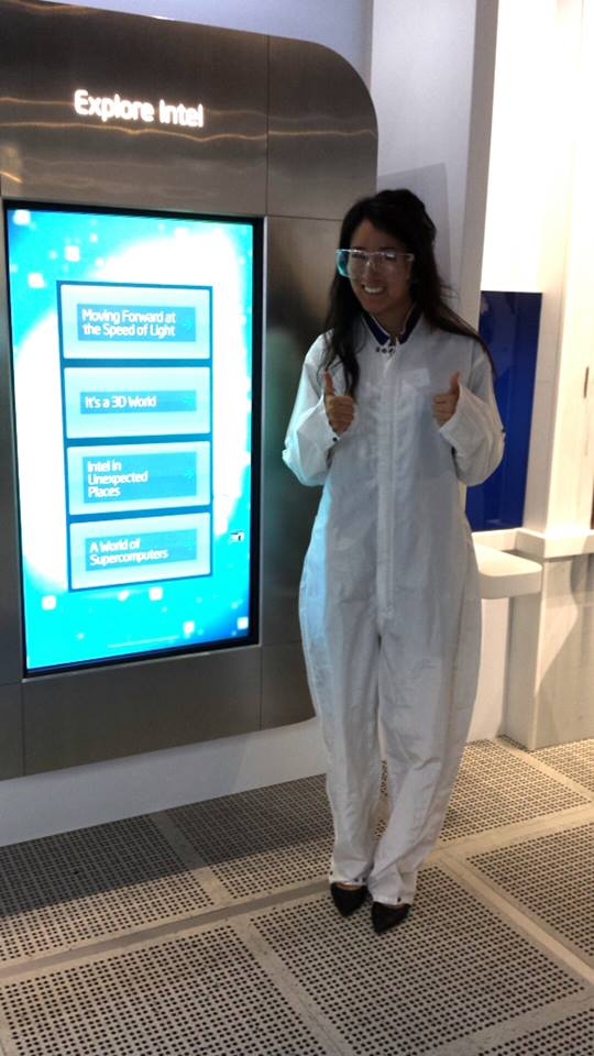 I'm wearing the suite that the engineers where when they are in the facility that makes the Intel chips. The rooms are apparently the cleanest in the world!