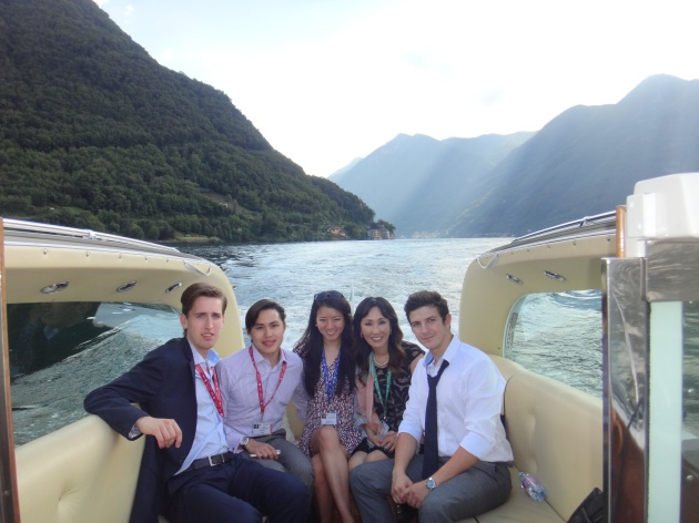 We took a private boat to tour Lake Como.