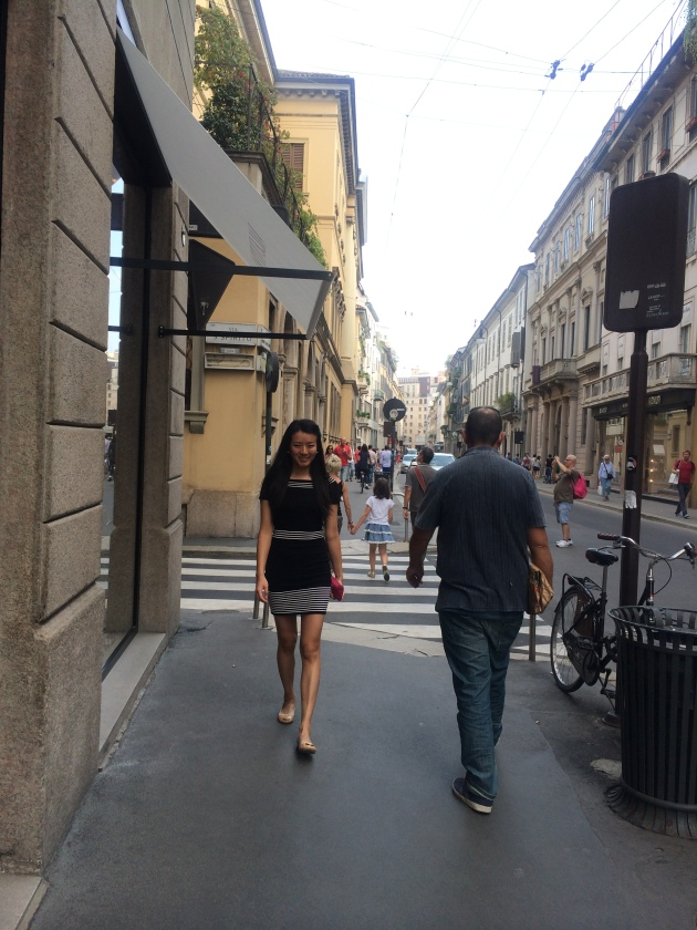 Shopping in Milan.