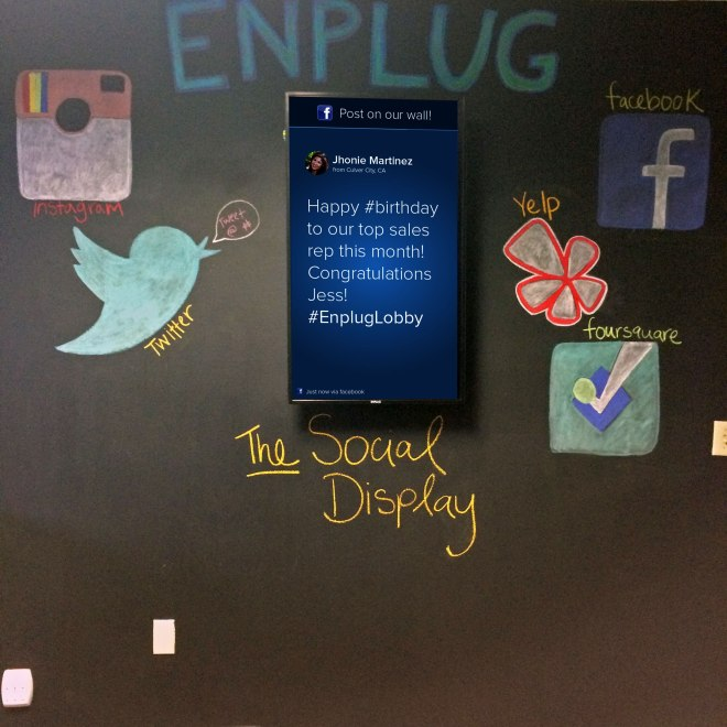 Enplug social media wall